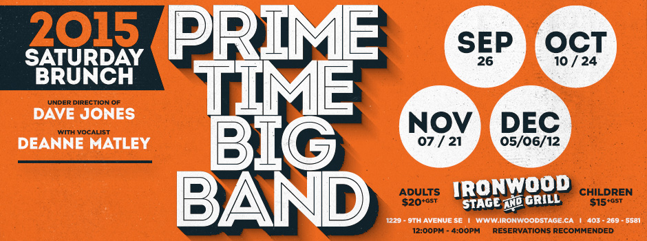 Prime Time Big Band 2015 season