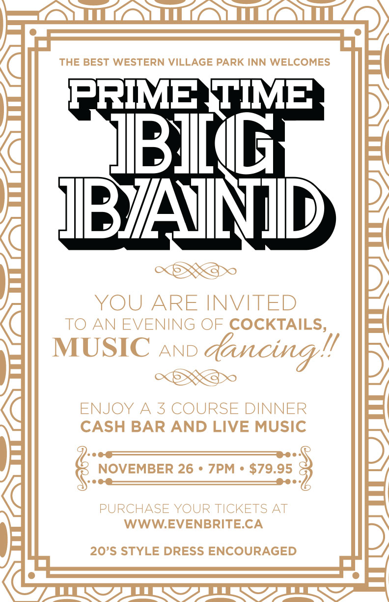 Prime Time Big Band - Social Media Poster